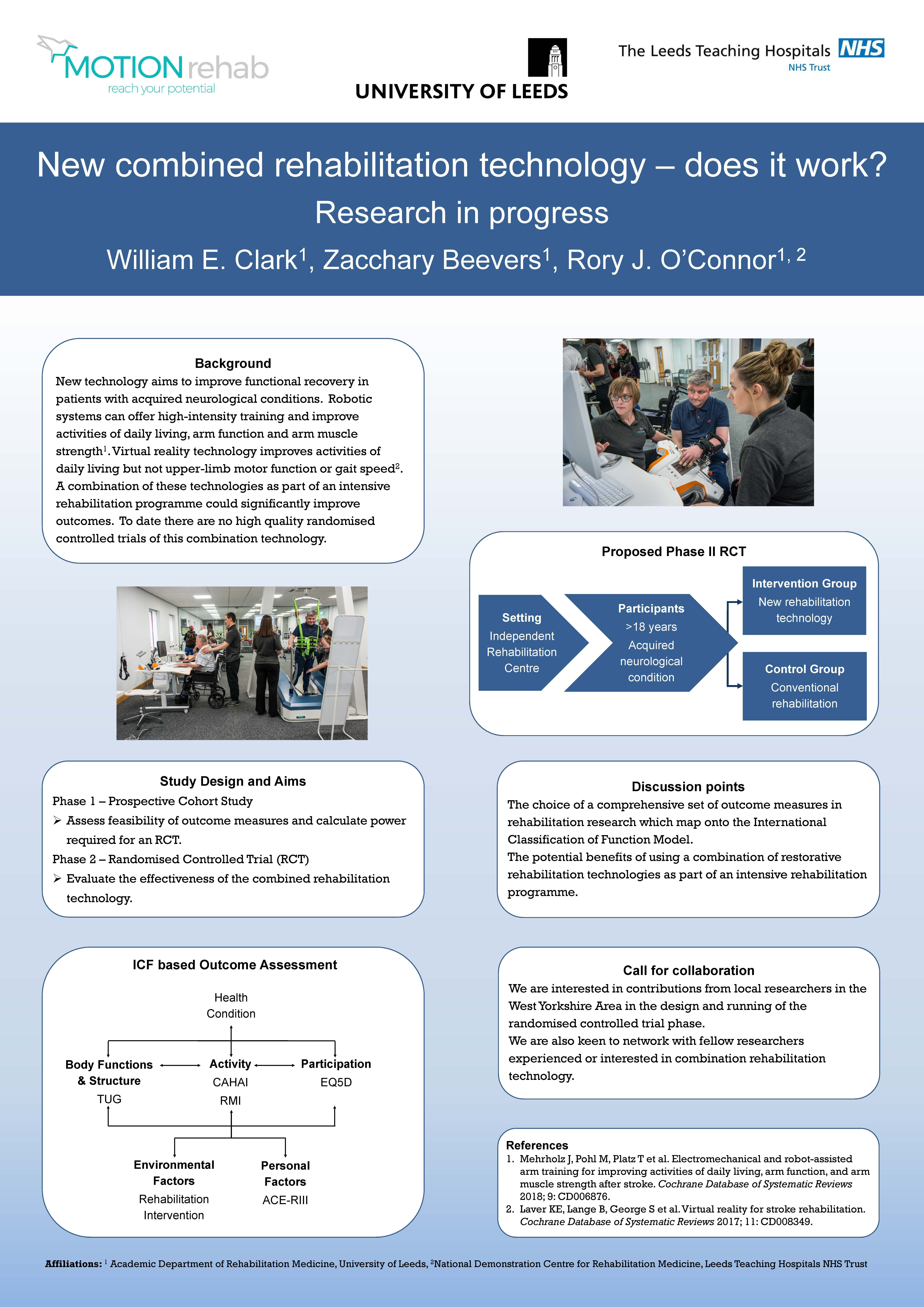 New combined rehabilitation technology – does it work? Research in progress