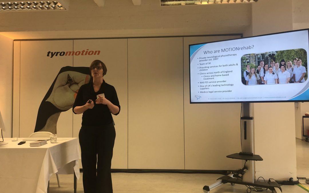 Clinical Director, Sarah Daniel presents at Tyromotion's International Distributor Partner Meeting in Graz, Austria.