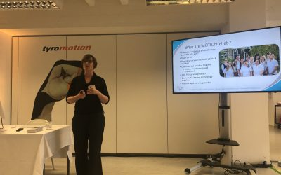 Clinical Director, Sarah Daniel presents at Tyromotion's International Distributor Partner Meeting in Graz, Austria.