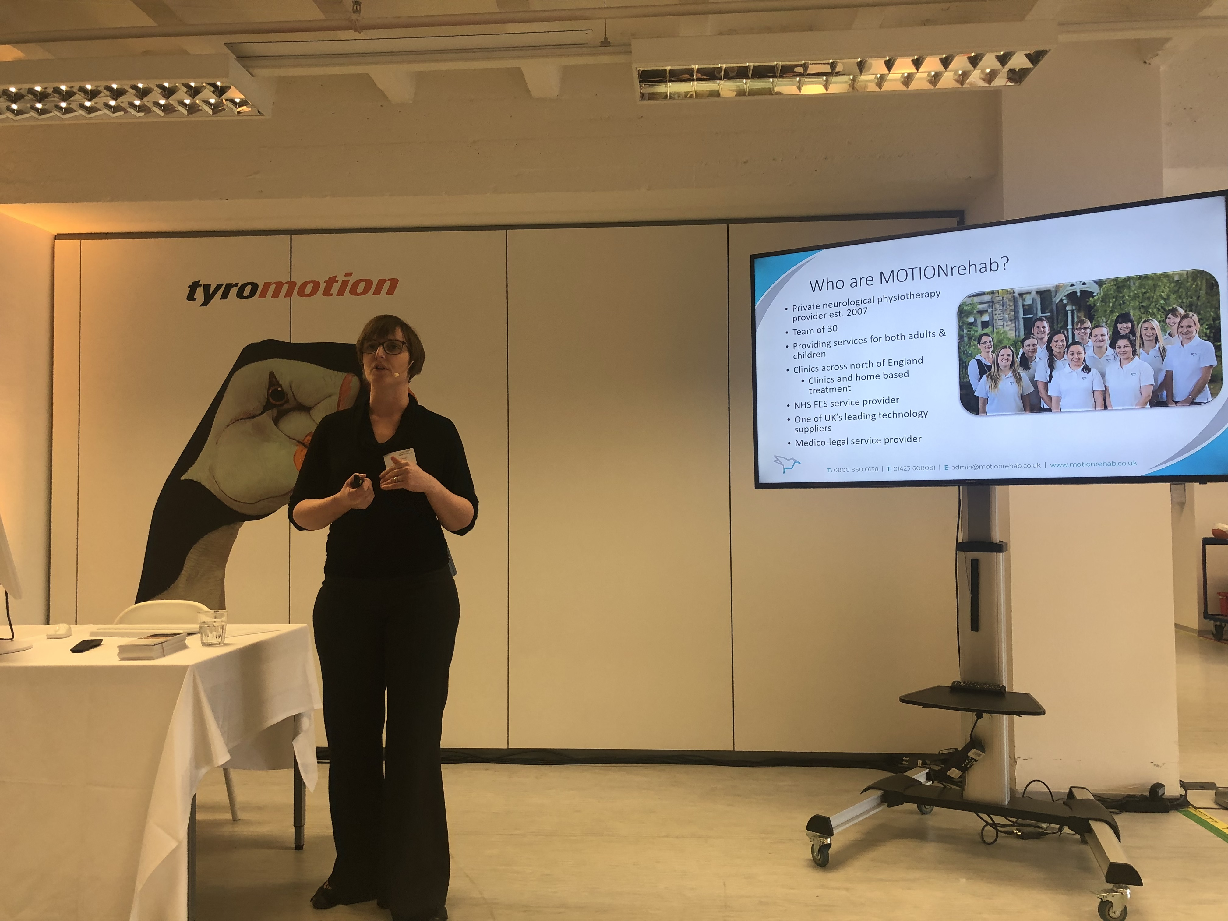 Clinical Director, Sarah Daniel presents at Tyromotion, Graz, Austria.
