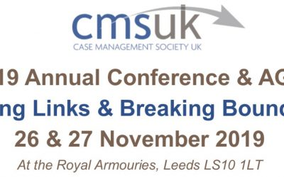 Case Management Society UK (CMSUK) Conference 2019