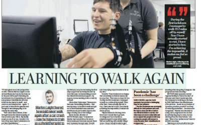 Marlon's story and MOTIONrehab Hull featured in the Yorkshire Post following car accident and rehab