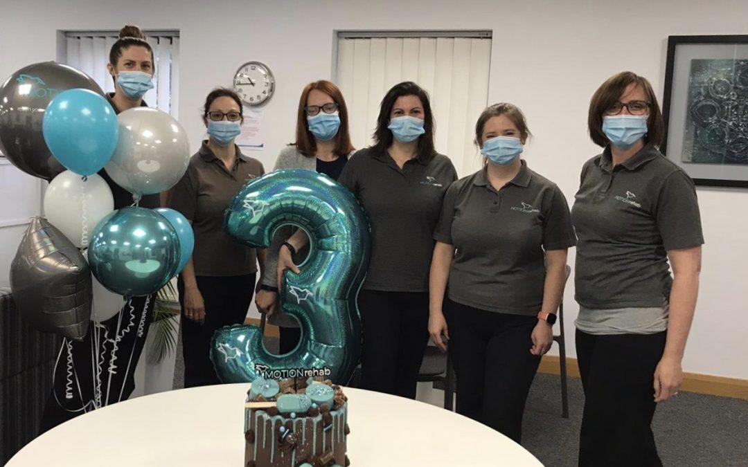 MOTIONrehab's Intensive Neurological Rehabilitation Centres Celebrates 3rd Birthday!