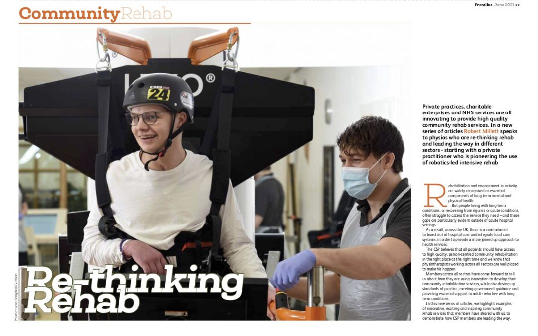 MOTIONrehab Featured in Frontline Magazine – Re-thinking Rehab